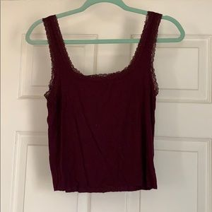 Cropped Maroon Cami